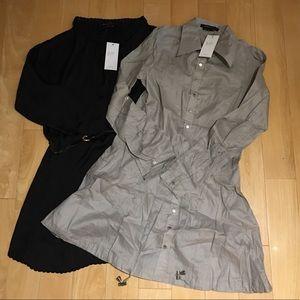 2 NWT Women's shirt dresses